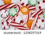 candy cane  spearmint ... | Shutterstock . vector #1258257319