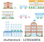 nursing care facilities related ... | Shutterstock .eps vector #1258260856
