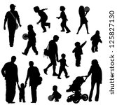 Various Silhouettes Of Parents...