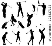 Various Golfers In Silhouettes...