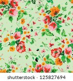 stylish beautiful bright floral ...