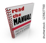 the words read the manual on a... | Shutterstock . vector #125827700