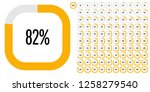 set of rectangle percentage... | Shutterstock .eps vector #1258279540