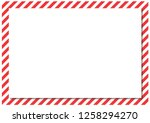 red stripes on the perimeter of ... | Shutterstock . vector #1258294270