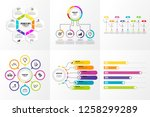 business set infographics... | Shutterstock .eps vector #1258299289