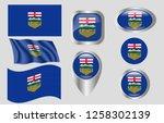 flag of alberta | Shutterstock .eps vector #1258302139