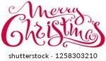 merry christmas ornate... | Shutterstock . vector #1258303210
