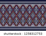 geometric ethnic pattern... | Shutterstock .eps vector #1258312753