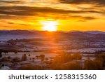autumn grazing scenery on... | Shutterstock . vector #1258315360