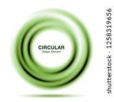 vortex green gradient round... | Shutterstock . vector #1258319656