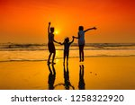 group of happy young people... | Shutterstock . vector #1258322920