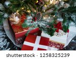 christmas tree decoration with... | Shutterstock . vector #1258325239