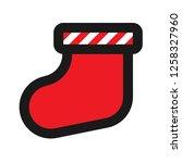 christmas sock icon. sock...   Shutterstock .eps vector #1258327960