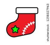 christmas sock icon. sock...   Shutterstock .eps vector #1258327963