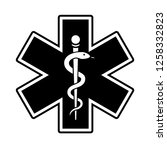 medical symbol of the emergency.... | Shutterstock .eps vector #1258332823
