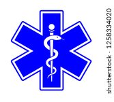 medical symbol of the emergency.... | Shutterstock .eps vector #1258334020