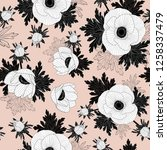 floral seamless vector pattern... | Shutterstock .eps vector #1258337479
