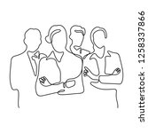 business team continuous line...   Shutterstock .eps vector #1258337866