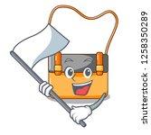 with flag beautiful menesengger ... | Shutterstock .eps vector #1258350289