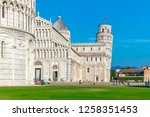 day view of pisa cathedral with ... | Shutterstock . vector #1258351453