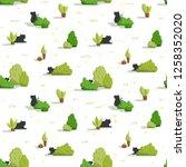 hand drawn seamless pattern.... | Shutterstock . vector #1258352020