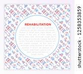 rehabilitation for disabled...   Shutterstock .eps vector #1258353859