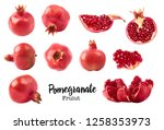 set with different fresh ripe... | Shutterstock . vector #1258353973
