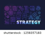 strategy vector colored... | Shutterstock .eps vector #1258357183