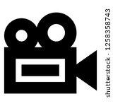 video camera glyph icon | Shutterstock .eps vector #1258358743