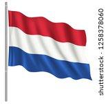 flag of netherlands with flag... | Shutterstock .eps vector #1258378060