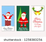 vector illustration of winter... | Shutterstock .eps vector #1258383256
