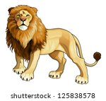 african,animal,beast,cartoon,character,color,comic,expression,illustration,isolated,king,lion,mane,realistic,tail