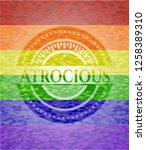 atrocious on mosaic background... | Shutterstock .eps vector #1258389310