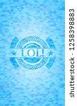 lol  sky blue mosaic emblem   Shutterstock .eps vector #1258398883
