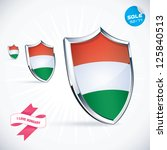 i love hungary flag... | Shutterstock .eps vector #125840513