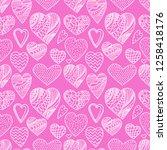 valentine's day  seamless ... | Shutterstock .eps vector #1258418176