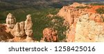 rock formations in bryce canyon ... | Shutterstock . vector #1258425016