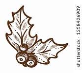 mistletoe traditional plant...   Shutterstock .eps vector #1258426909