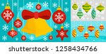 decorate christmas tree toys... | Shutterstock . vector #1258434766