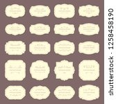 vintage frame labels. rectangle ... | Shutterstock . vector #1258458190