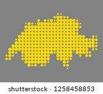 map of schweiz | Shutterstock .eps vector #1258458853