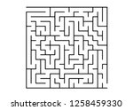 white vector template with a... | Shutterstock .eps vector #1258459330