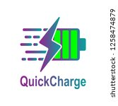 battery charging vector icon.... | Shutterstock .eps vector #1258474879