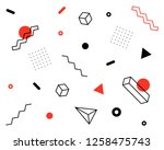 geometric vector pattern with... | Shutterstock .eps vector #1258475743