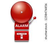 red alarm bell | Shutterstock .eps vector #1258476856