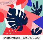 contemporary floral seamless... | Shutterstock .eps vector #1258478620