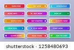 colorful gradients buttons.... | Shutterstock .eps vector #1258480693