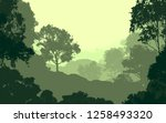 2d illustration. trees in the... | Shutterstock . vector #1258493320
