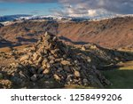 helm crag is a fell in the... | Shutterstock . vector #1258499206
