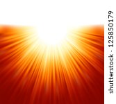 sunburst rays of sunlight... | Shutterstock .eps vector #125850179